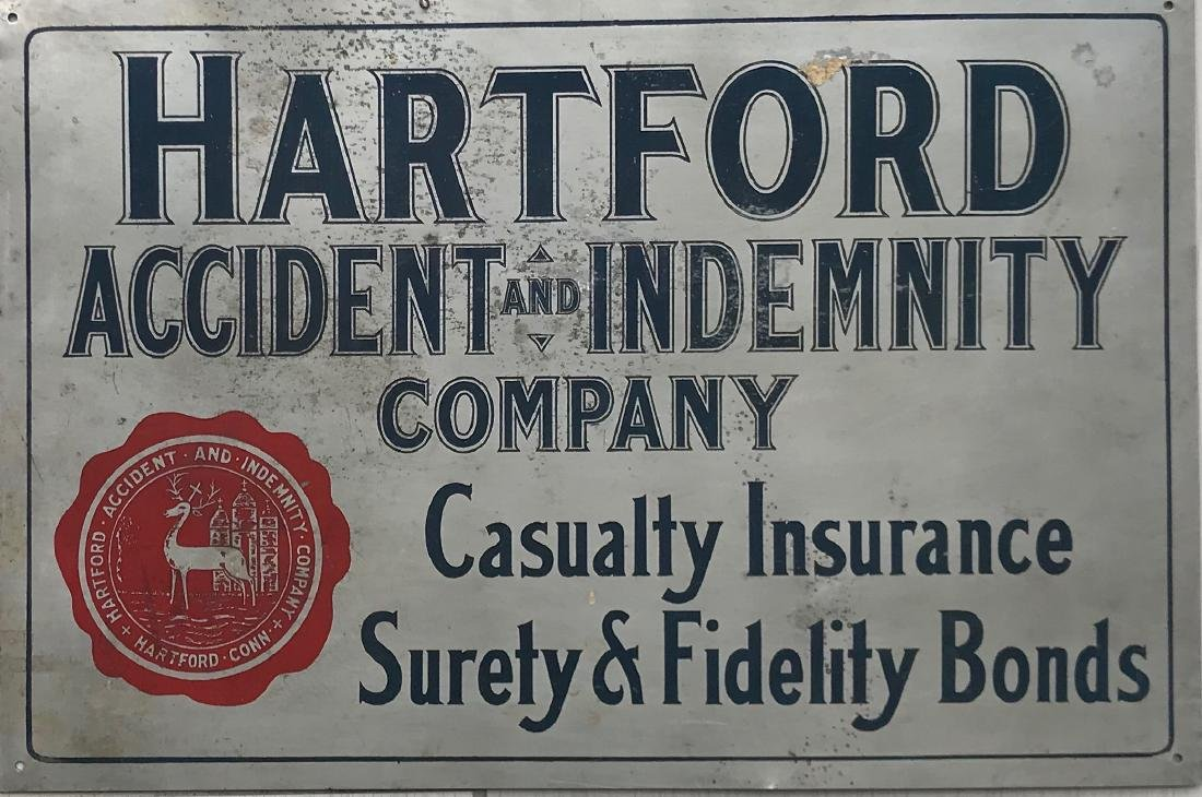Vintage sign of insurance company