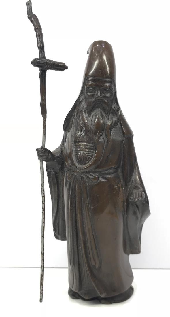 Antique Japanese Bronze of an Old Man