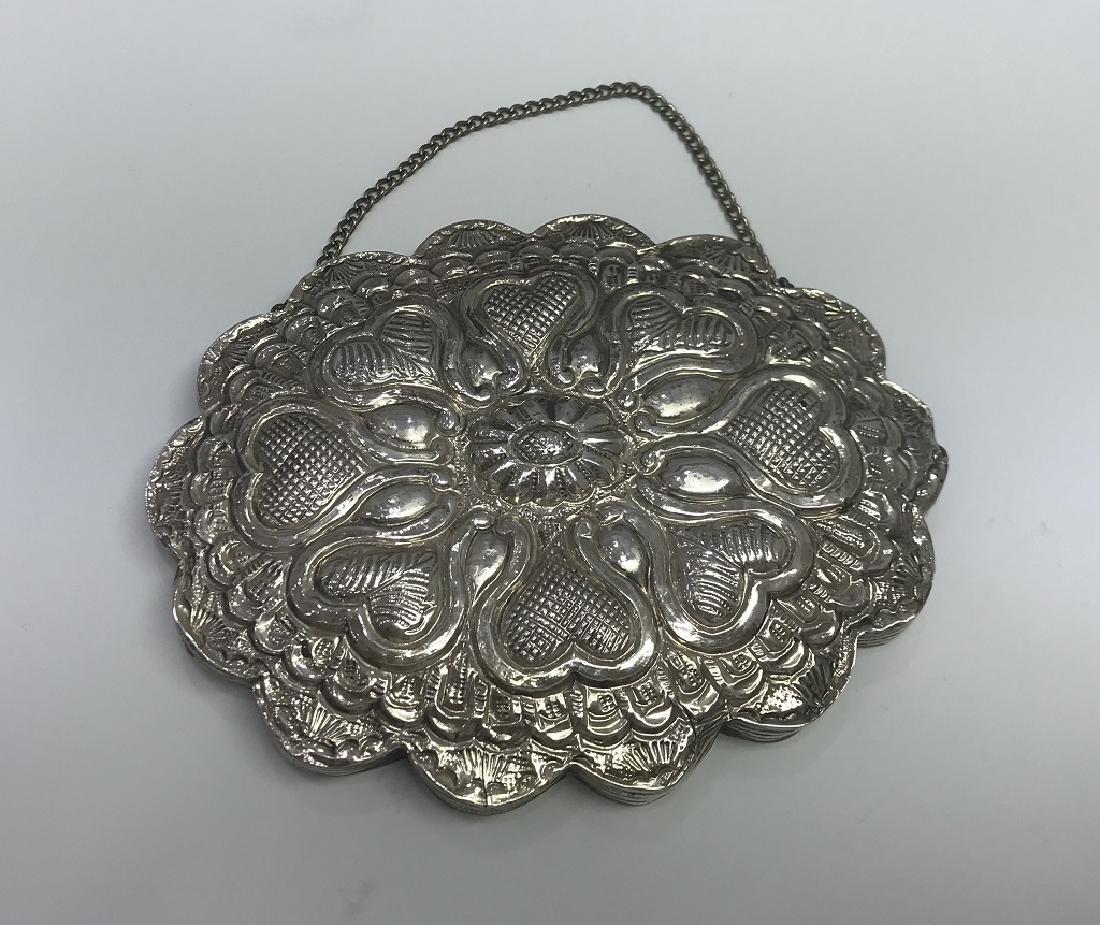 Antique Klass Hand Mirror Sterling Silver