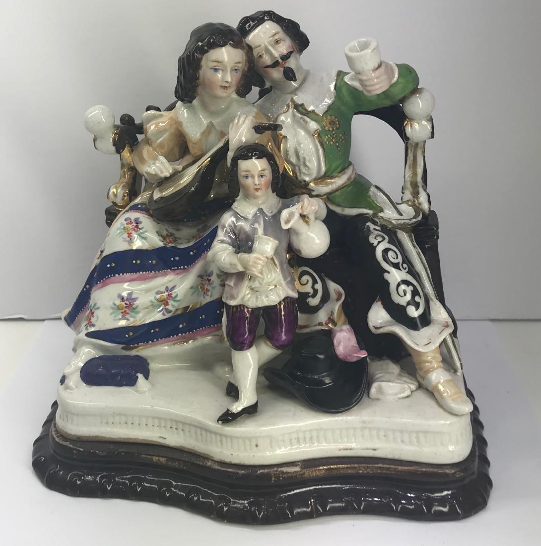 Antique Old Paris porcelain inkwel XIX Century