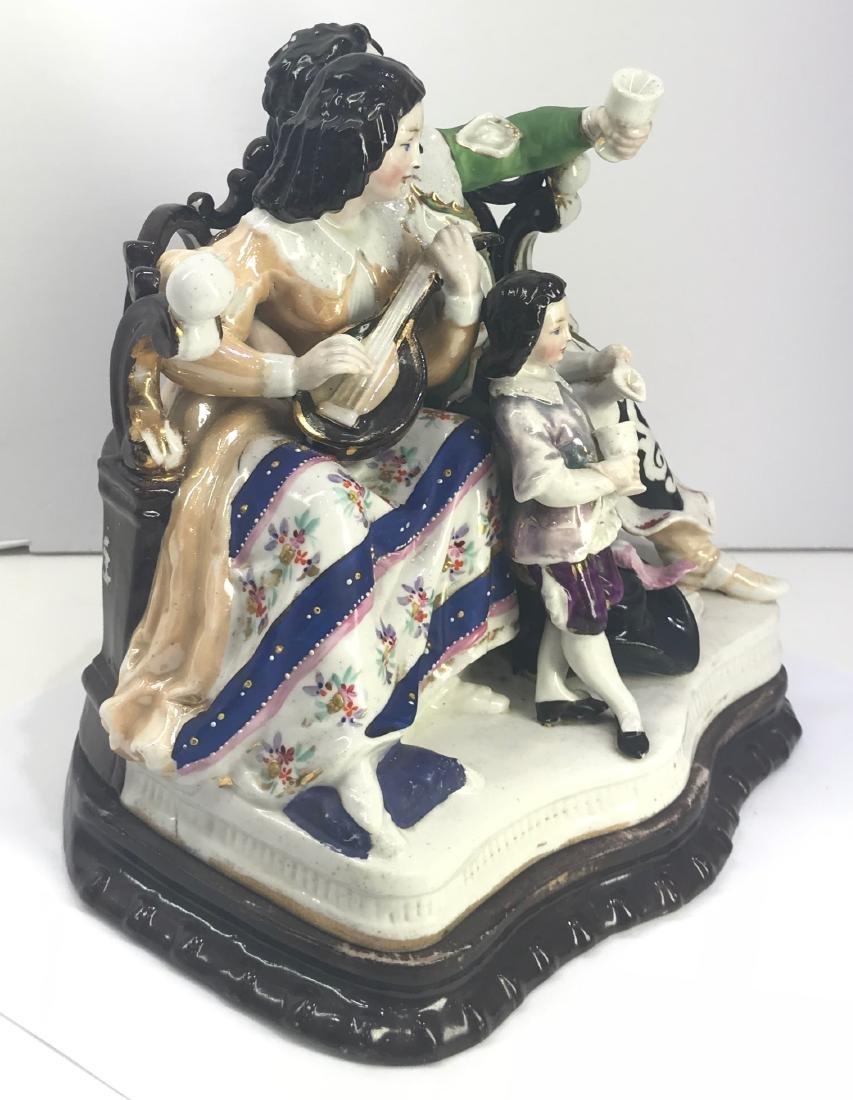 Antique Old Paris porcelain inkwel XIX Century - 2