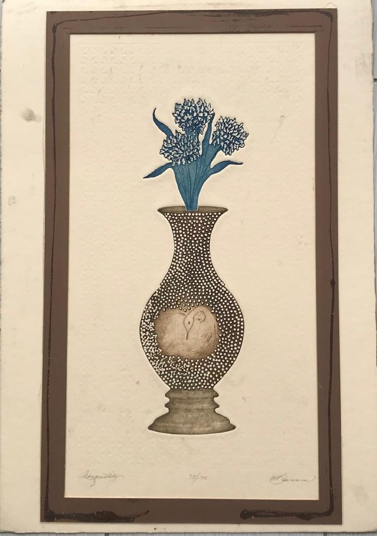 Print of jar with flower