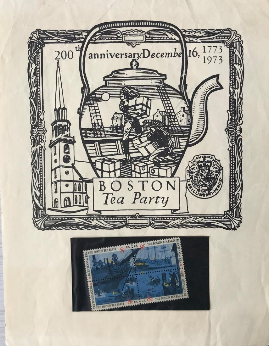 200 Aniversary Boston Tea Party stamps