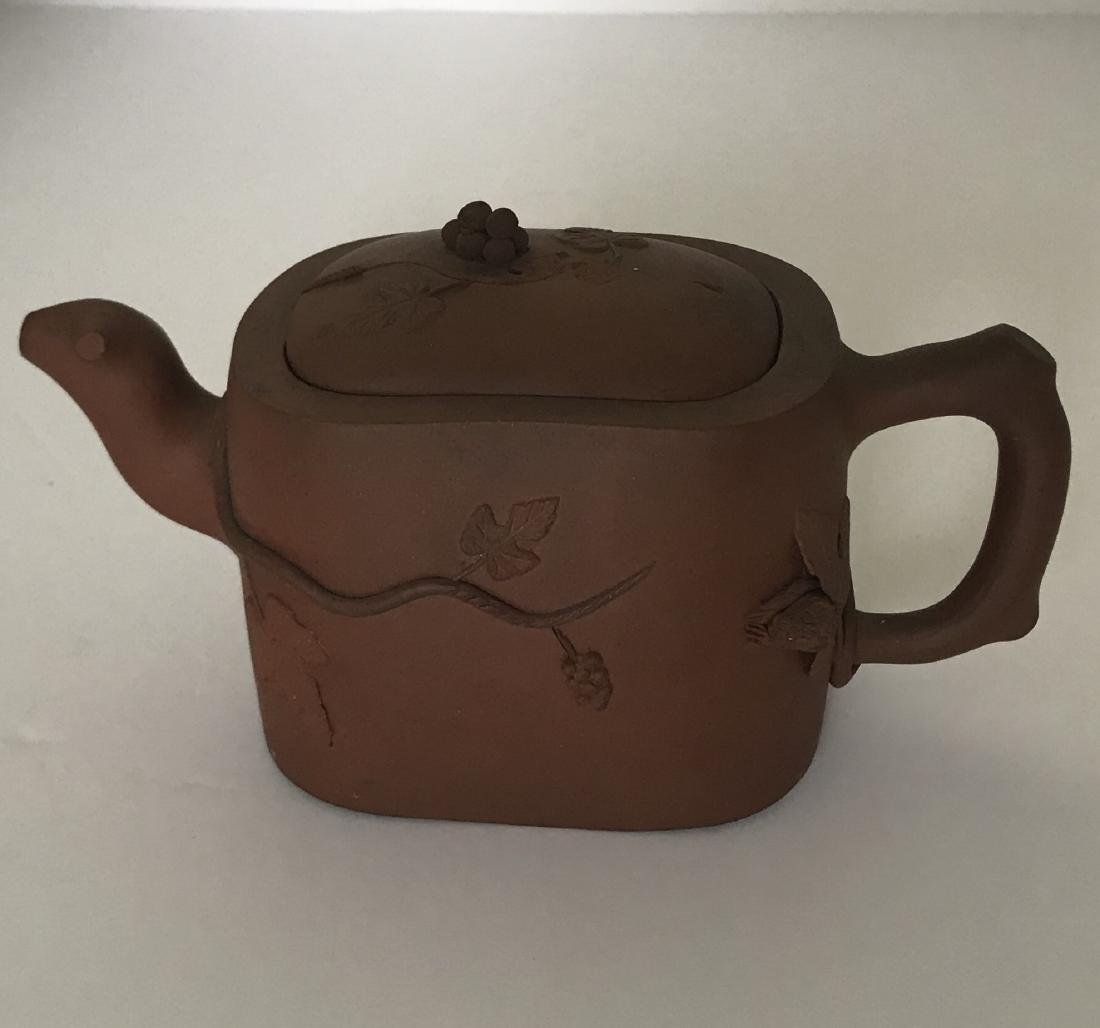Antique chinese clay teapot