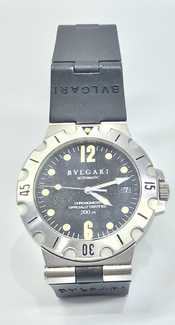 Pre-owned Bulgari 41mm Stainless Steel Diagono SCUBA