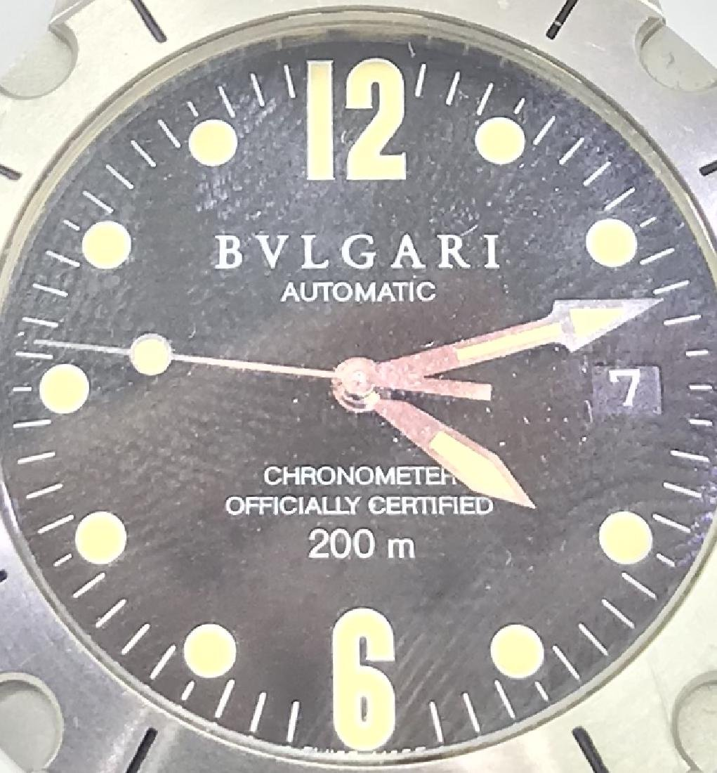 Pre-owned Bulgari 41mm Stainless Steel Diagono SCUBA - 2