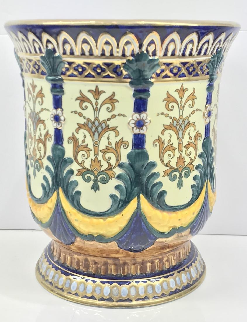 Antique Russian porcelain planter pot
