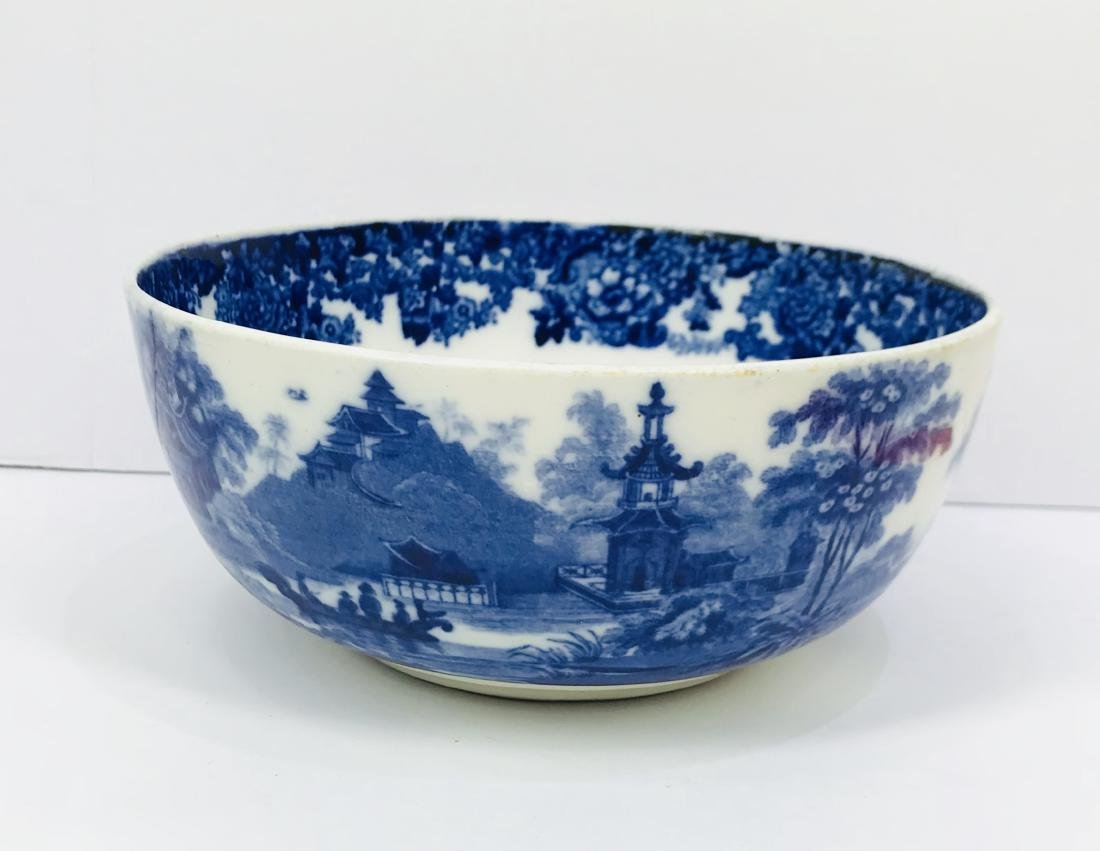 Antique chinese porcelain blue and white bowl, marked