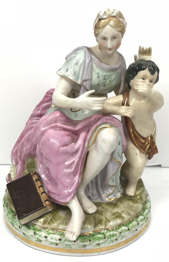 Vintage Nice germany porcelain group figure, marked on