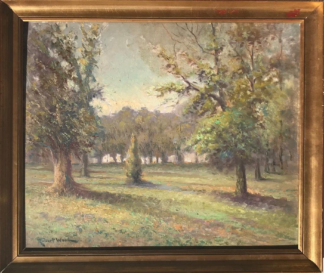 Oil on board painting signed Robert Wood