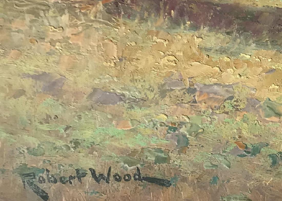 Oil on board painting signed Robert Wood - 3