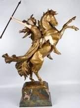 """LOUIS CHALON (1866-1940) """"LA WALKYRIE"""" sculpture."""