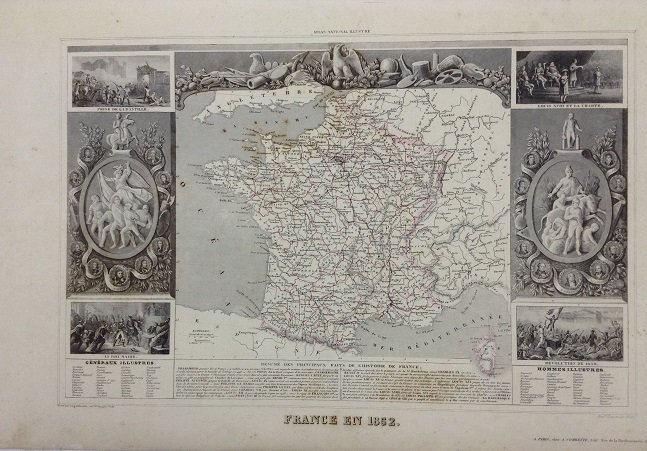 Map of france 1852