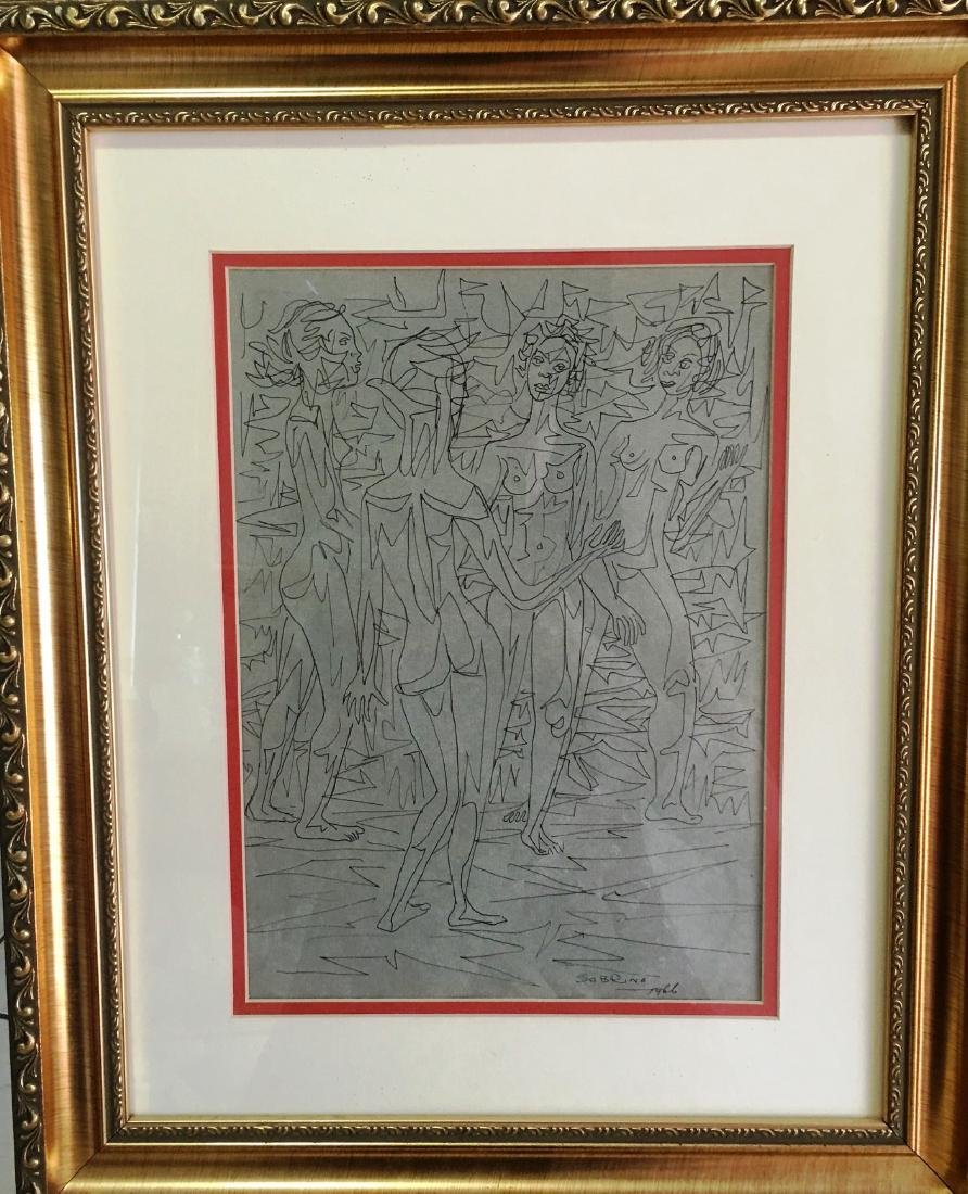 Carlos Sobrino Drawing 1966