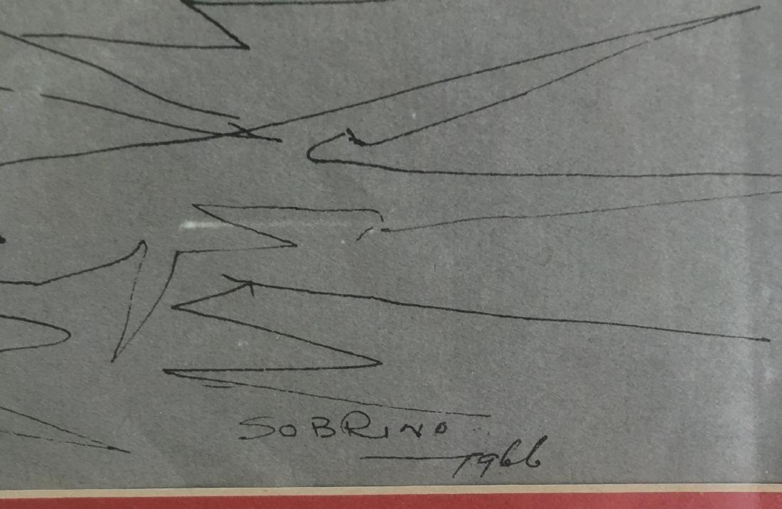 Carlos Sobrino Drawing 1966 - 2