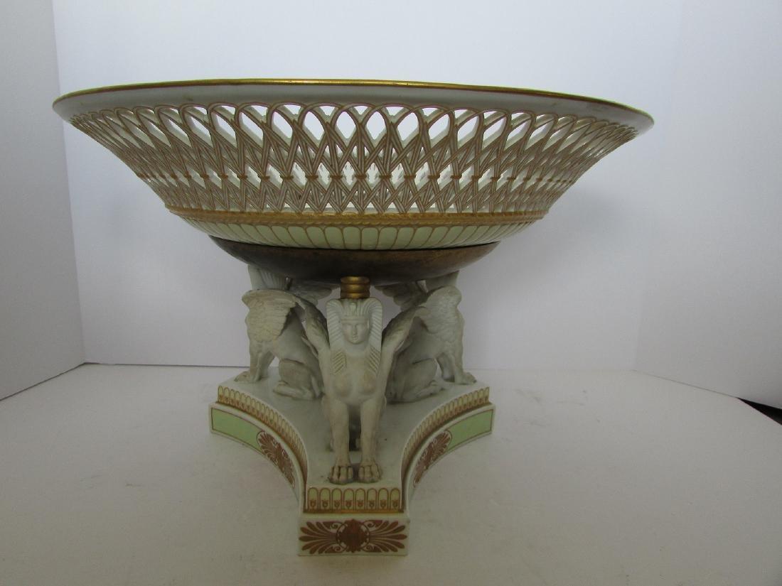 Antique KPM scepter imperial porcelain centerpiece