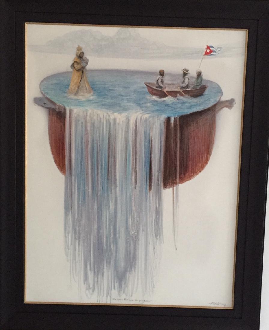 Roberto Fabelo cuban artist (Encuentro con la Virgen)