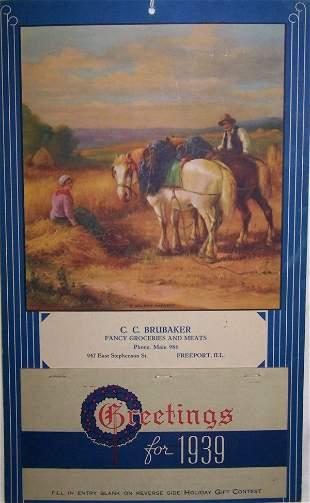 12: 1939 Freeport Calendar