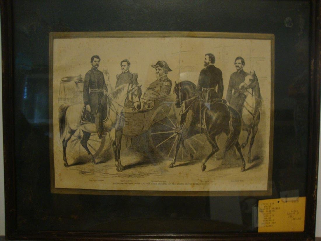 Civil War Print dated Aug. 17, 1861