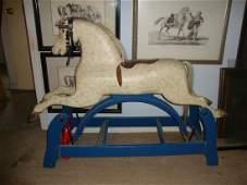 Wooden Rocking Horse w/Horse Hair mane & tail