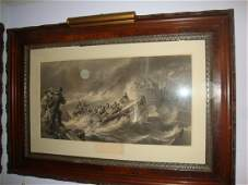 Large Walnut framed print The Return Saved From The