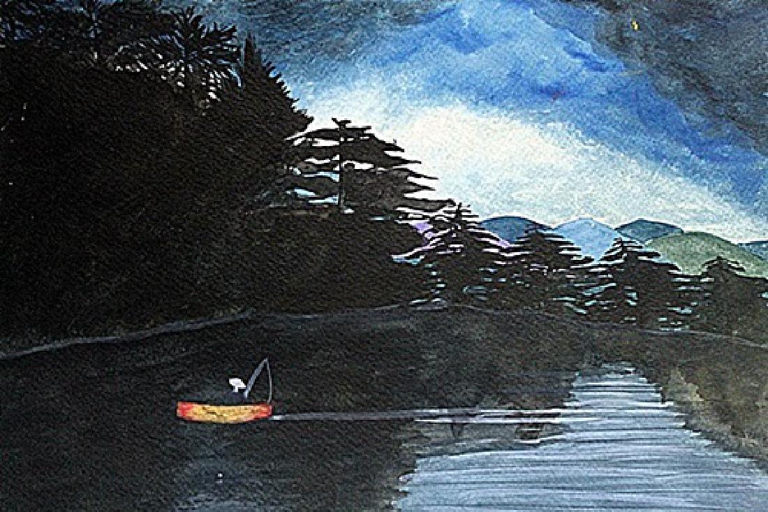 Winslow Homer - Fisherman 1889 Watercolor