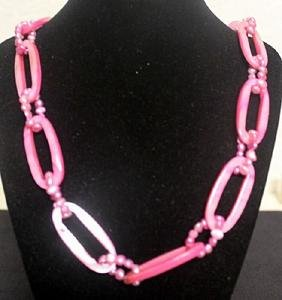 Gorgeous Pink Mother of Pearl Necklace (36ZF)