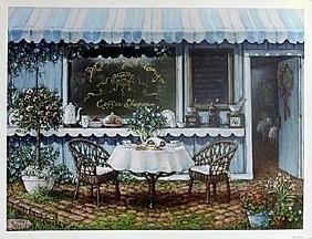 "Fine Art Print ""Morning Glory Coffee Shop"" by Janet"