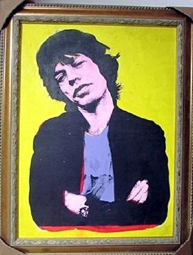 Andy Warhol Acrylic and Silkscreen Ink