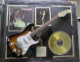 Legendary Steve Ray Vaughan Autographed Gold Record