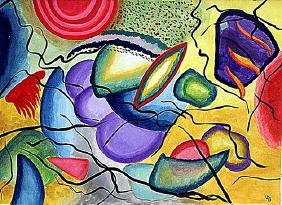 Wassily Kandinsky - Composition 1913 Watercolor