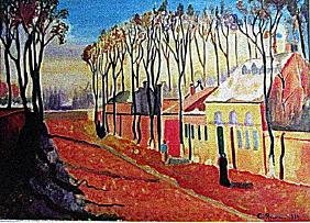 Camille Pissarro - The Enterance to the Village of