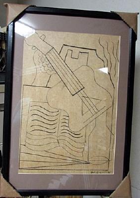 Juan Gris - Composition 1920 Drawing
