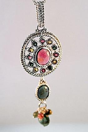 SILVER PENDNAT WITH TOURMALINE