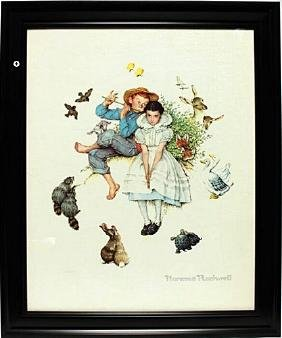 Framed Lithograph  Norman Rockwell