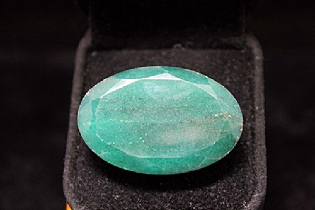 Fine Oval Columbian Emerald (12M)