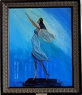 """Oil on Canvas """"Angel of Peace"""" by Sergey"""