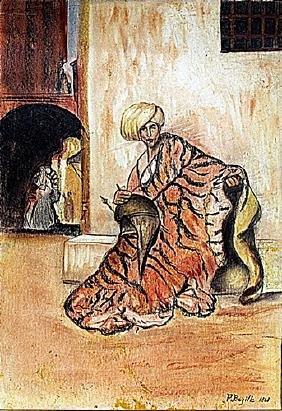 Frederic Bazille - Portrait of Homar 1868 Pastel
