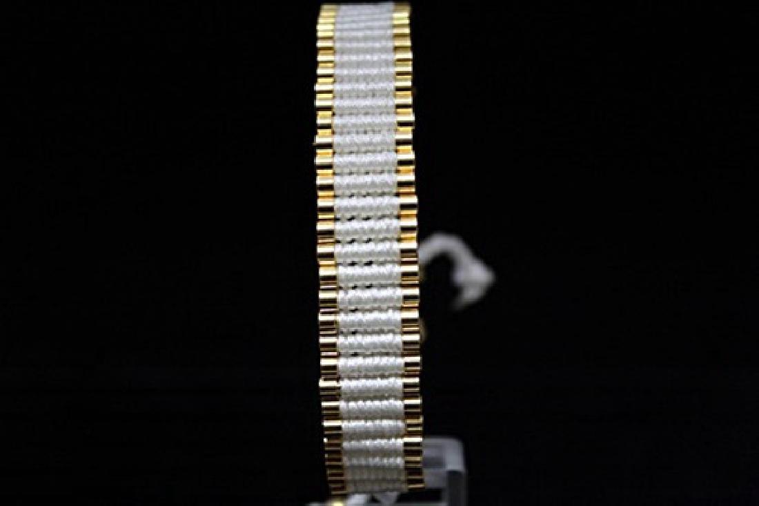 Stunning 14kt Gold Over Silver Links London White