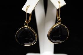 Elegant Sapphire Silver Earrings (11M)