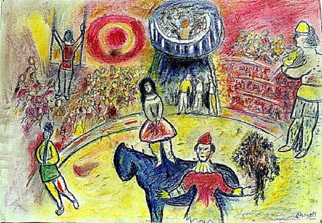 Marc Chagall - The Circus Pastel