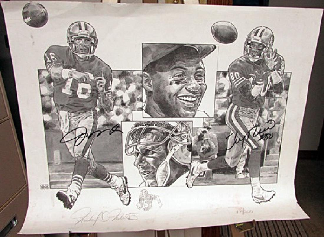 Signed Joe Montana and Jerry Rice 49ers lithograph