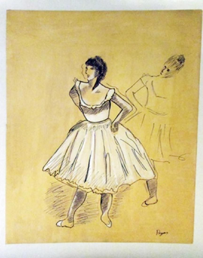 Edgar Degas - The Dancers Watercolor