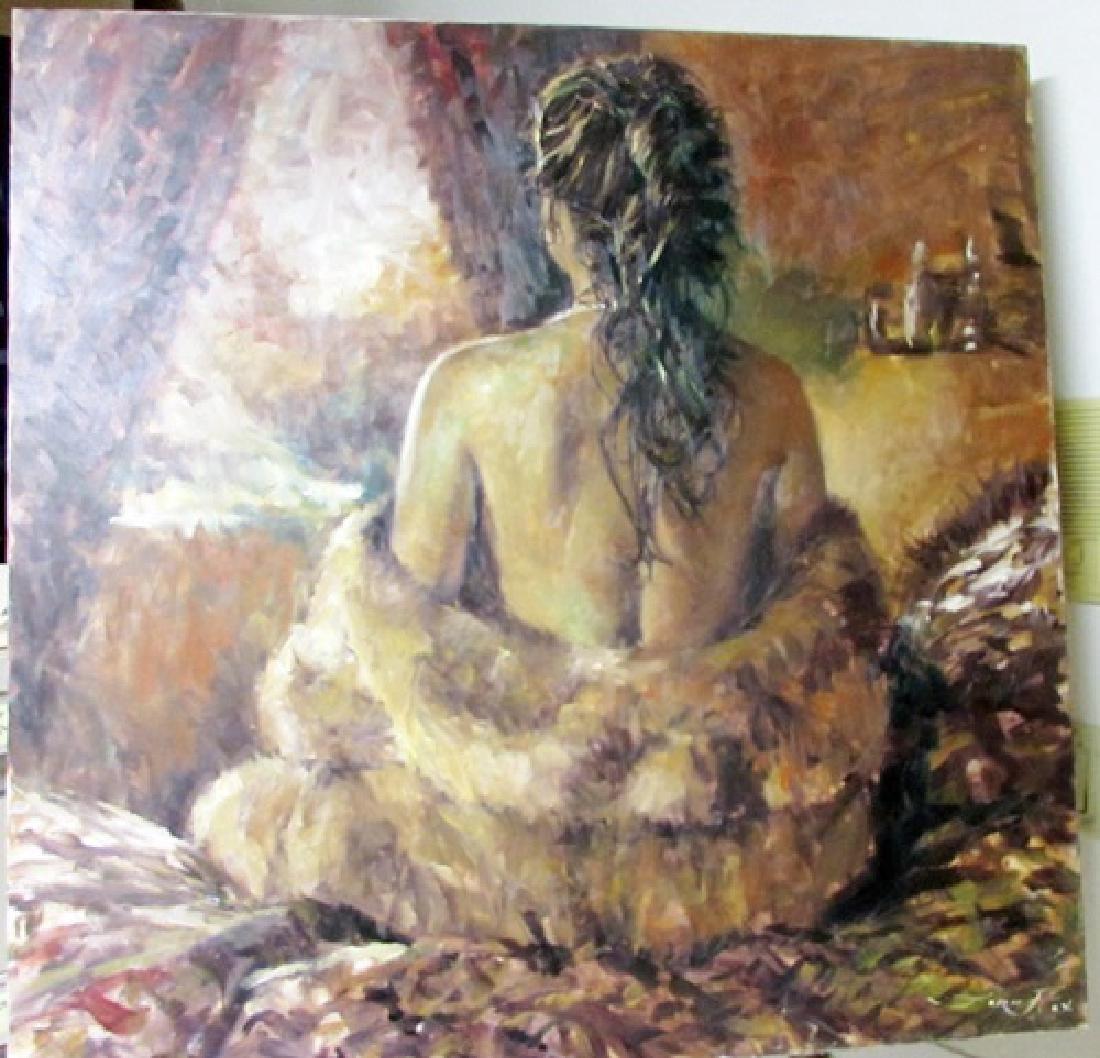 Hand SignedOriginal  Jorn Fox Oil on Canvas