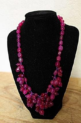 Sterling Silver/ Ruby's Necklace