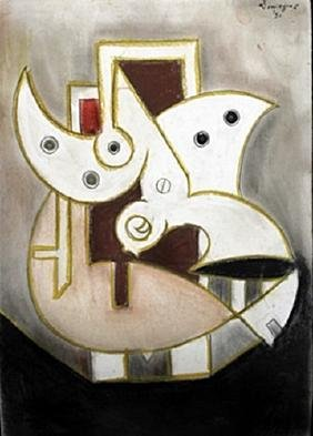 Untitled Pastel On Paper - Oscar Dominguez