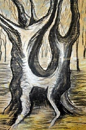 The Tree - Henri Moore - Pastel On Paper