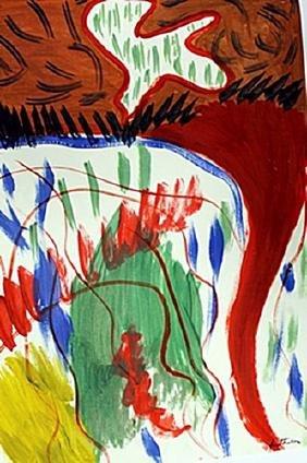 The Rose - Helen Frankenthaler - Oil On Paper