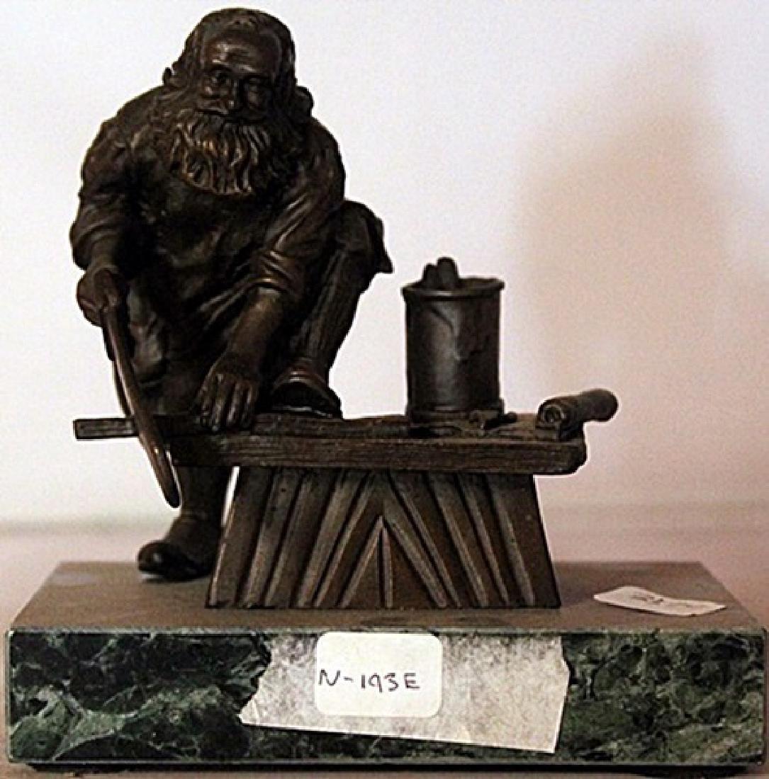 Santa In his Shop - Bronze Sculpture - Moreau