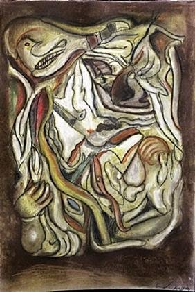 The Soup - Andre Masson - Pastel On Paper